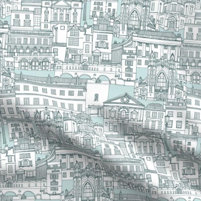 Bath toile de jouy fabric