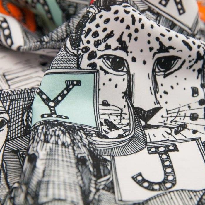 animal ABC alphabet nursery fabric