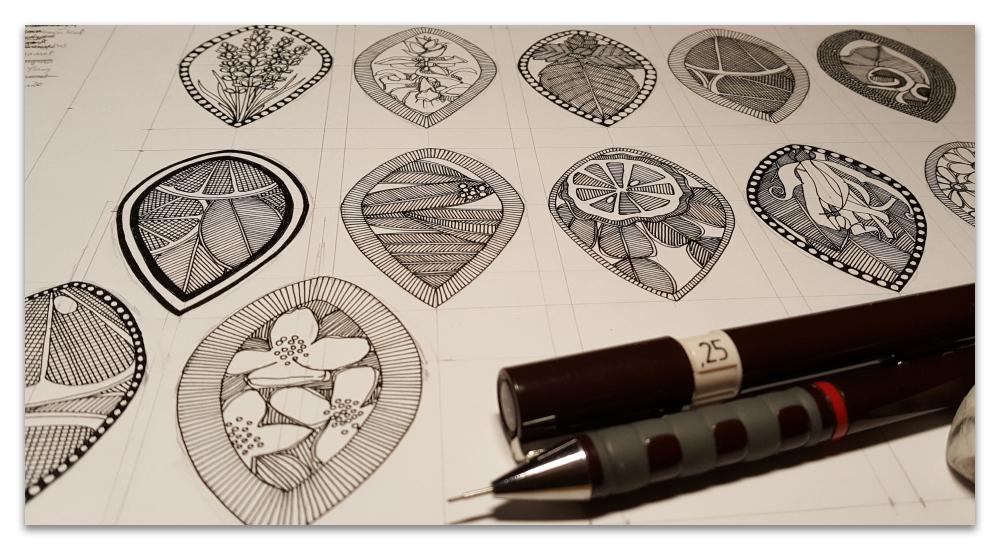 aromatherapy work in progress WIP sharon turner illustration