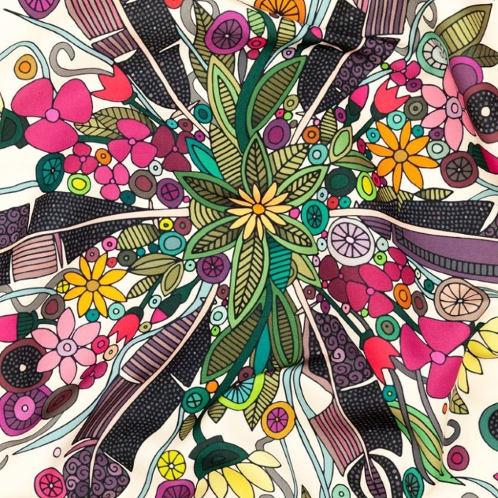 bohemian posy cream bohemian floral fabric