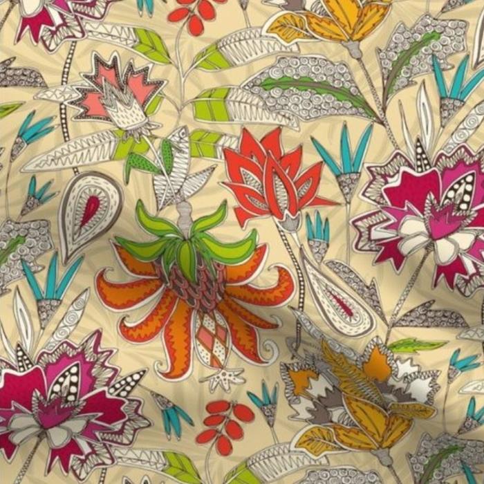 chintz pop sunlight fabric