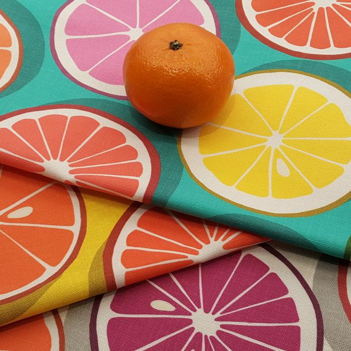citrus polka pop linen cotton canvas fabrics