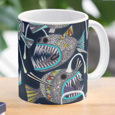 deep sea anglerfish redbubble coffee mug sharon turner