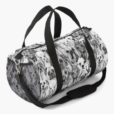 just dogs redbubble duffle bag sharon turner