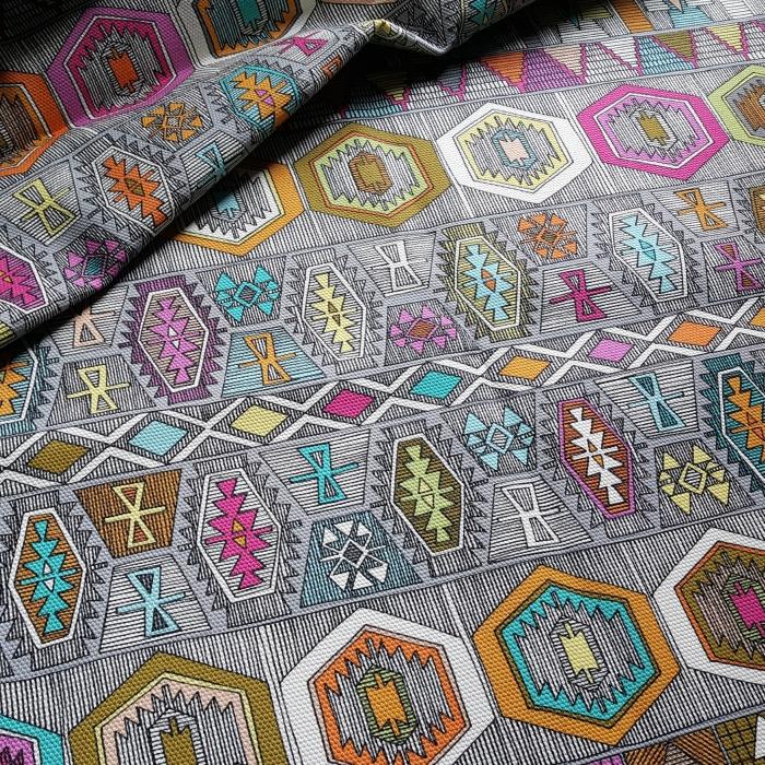 kilim pembe cypress cotton canvas fabric
