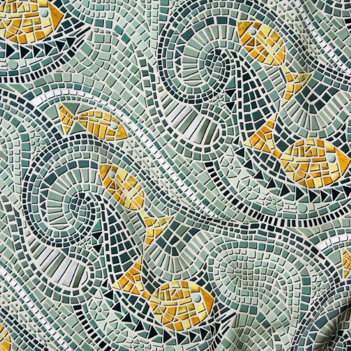 mosaic fish fabric