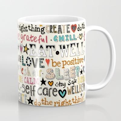self care affirmations society6 coffee mug sharon turner