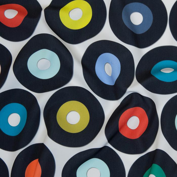 vinyl record music fabric