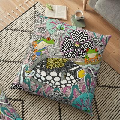 ASHA blossom tropical surrealism redbubble floor pillow sharon turner