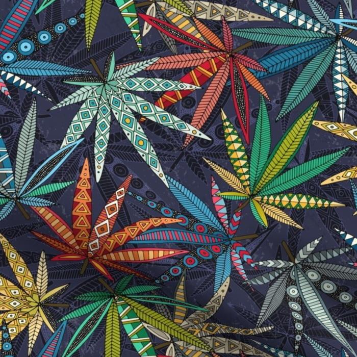 boho weed midnight sharon turner scrummy spoonflower