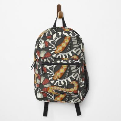 snakes jet redbubble backpack bag sharon turner