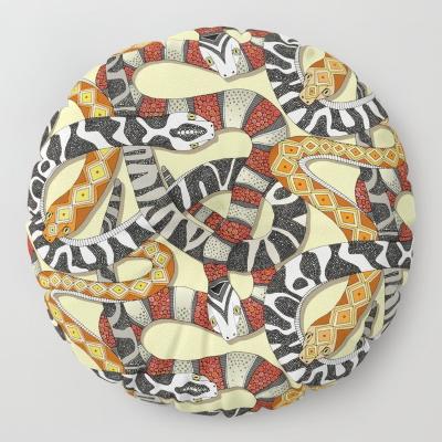 snakes sunlight society6 floor pillow sharon turner