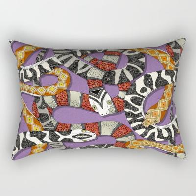 snakes violet rectangular throw pillow society6 sharon turner