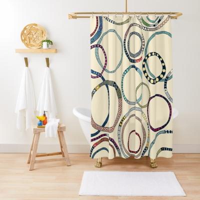 hula hoops redbubble shower curtain sharon turner