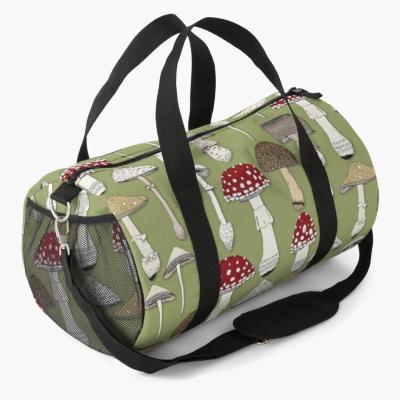 mushrooms fern green redbubble duffle bag sharon turner