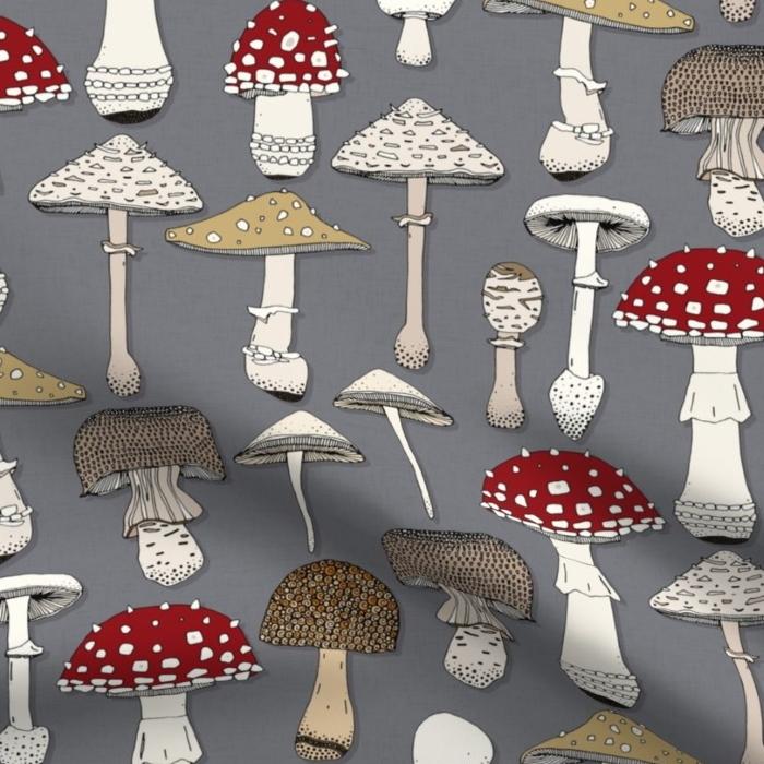 mushrooms iron spoonflower sharon turner