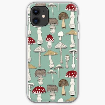 mushrooms jade redbubble soft iphone case sharon turner