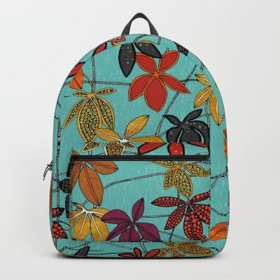 virginia creeper aqua backpack society6 sharon turner