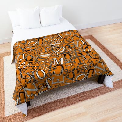 ABC scatter orange mono redbubble comforter sharon turner