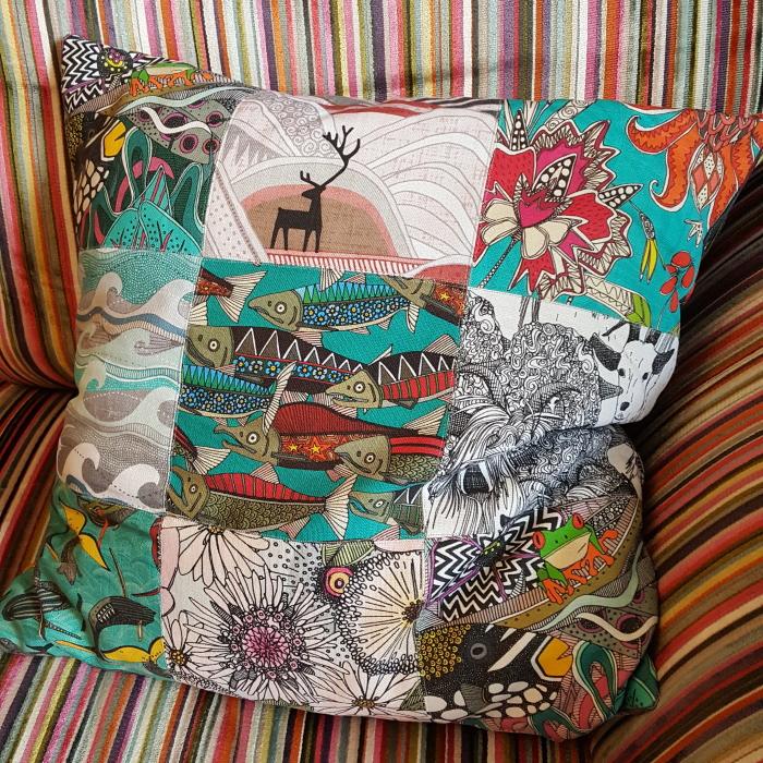 Belgian Linen portfolio patch cushion spoonflower sharon turner