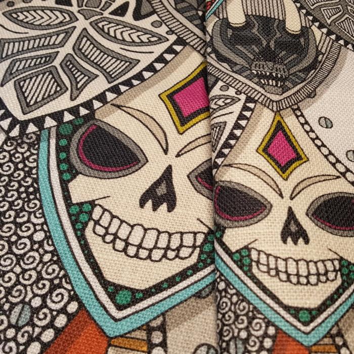 Gothic Shields on Belgian Linen Spoonflower scrummy Sharon Turner