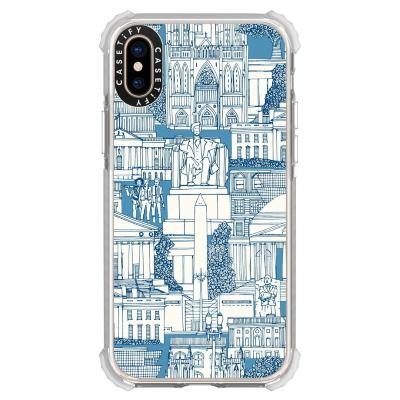 Washington DC toile blue casetify phone case sharon turner