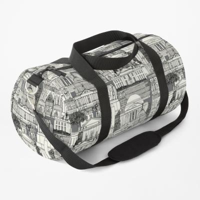 Washington DC toile gray redbubble duffle bag sharon turner