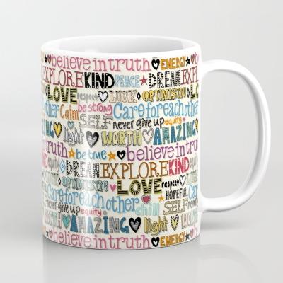 believe in truth society6 coffee mug sharon turner