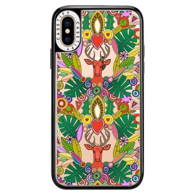 ho ho ho deer maximalist christmas transparent casetify phone case sharon turner