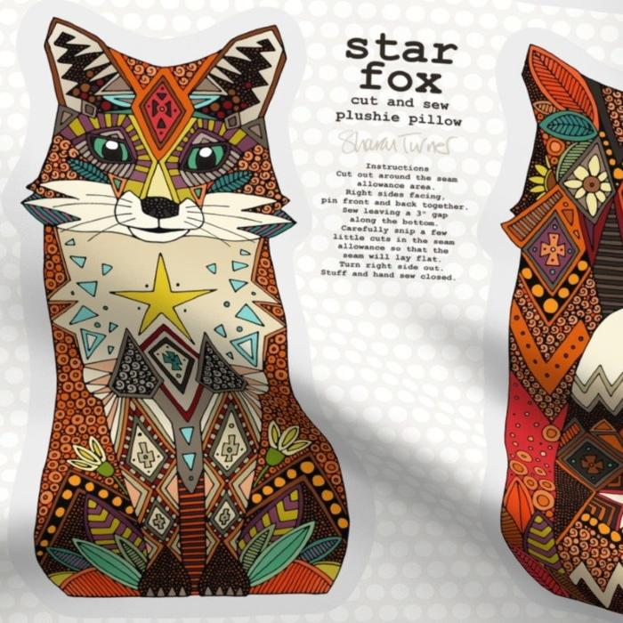 star fox plushie pillow fat quarter 4th spoonflower 10092020 sharon turner