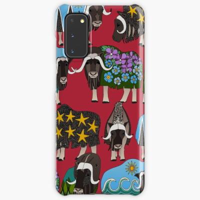 Alaskan musk ox red Samsung Galaxy phone case Sharon Turner