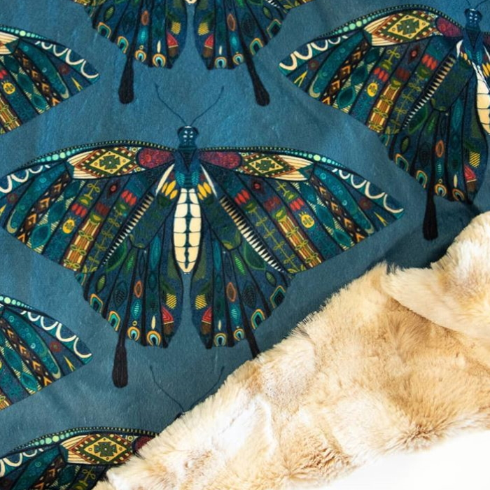 SewLoveCo swallowtail butterfly blanket spoonflower sharon turner