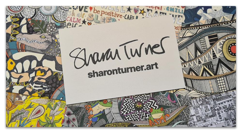Sharon Turner Art business cards moo
