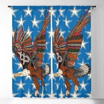 USA eagle blue blackout curtains Society6 Sharon Turner
