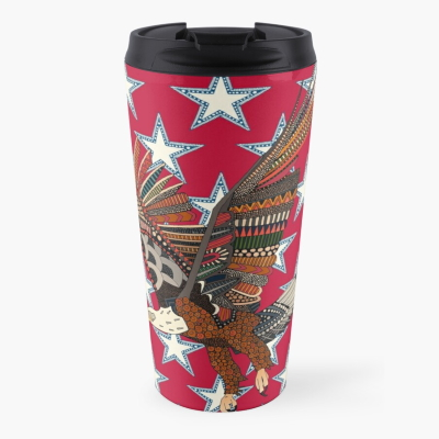 USA eagle red redbubble travel cup sharon turner