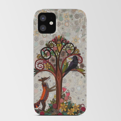 fox and crow iPhone card case society6 sharon turner