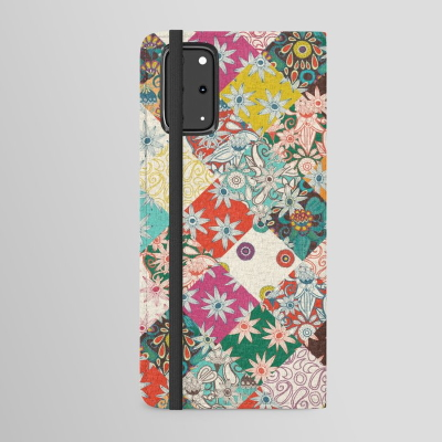 sarilmak patchwork android wallet case society6 sharon turner