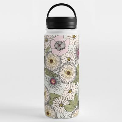 Australian garden chalk society6 water bottle sharon turner