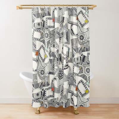 mail scatter pop redbubble shower curtain Sharon Turner