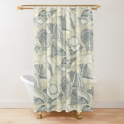 shells cream redbubble shower curtain sharon turner
