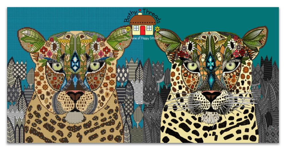 Bothy Threads Sharon Turner leopard cross stitch