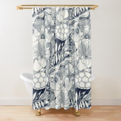 I see Hawaii indigo redbubble shower curtain sharon turner