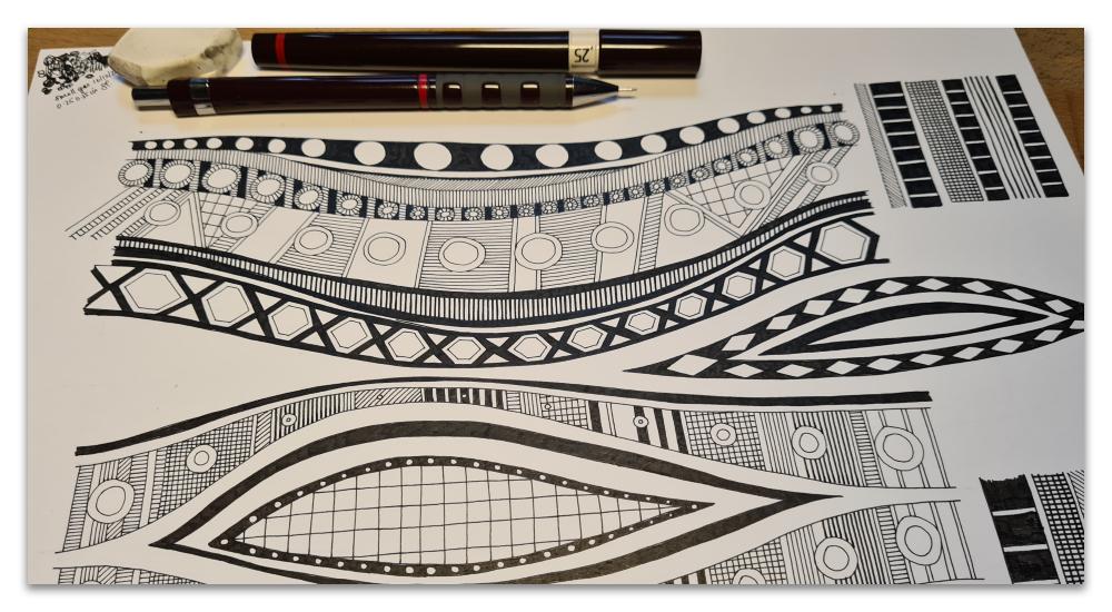 VINKA GEO work in progress WIP illustration sharon turner
