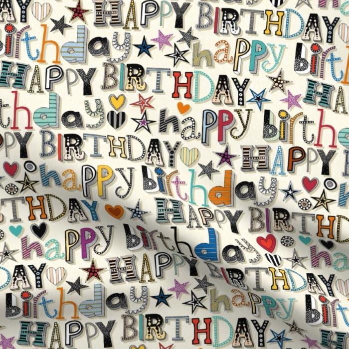 happy birthday hearts and stars spoonflower sharon turner