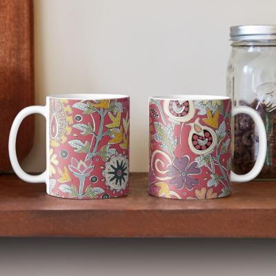 ZAFER red redbubble coffee mug sharon turner