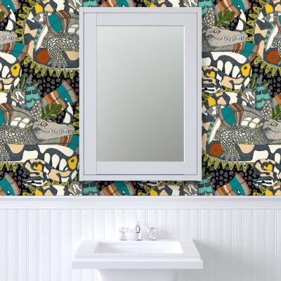 animalier pop spoonflower wallpaper sharon turner