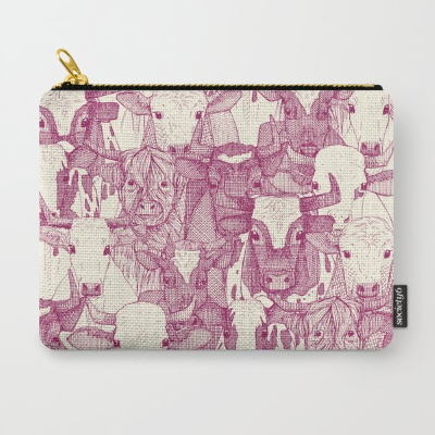 just ox cherry pearl society6 pouch sharon turner