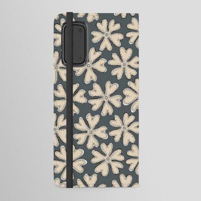 YAZ gray cream society6 android wallet case sharon turner