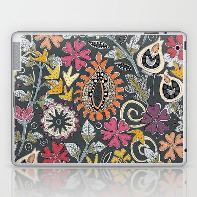 ZAFER gray society6 laptop and iPad skin sharon turner