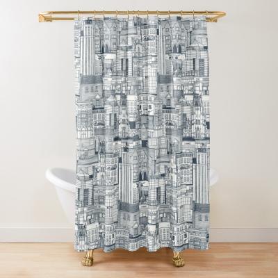 Durham N indigo redbubble shower curtain sharon turner